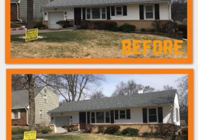 independence roofing before and after