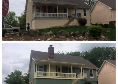 before after roofing in Kansas City
